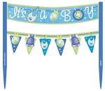 Cake banner blue it's a boy UI42514